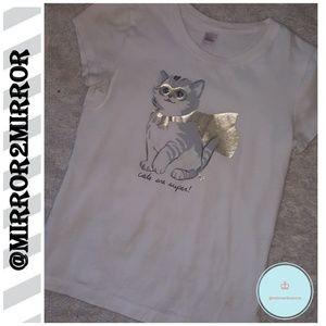 👑Justice Girls Cute Cat shirt